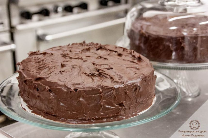 шоколадно-ореховый торт. Ирина Огурченок. Кондитерские курсы